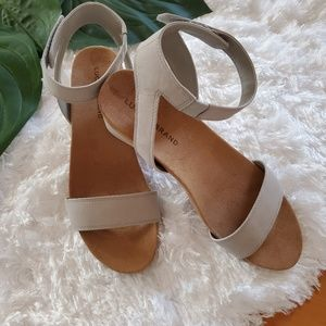 Lucky Brand Wedge Sandals - Perfect Neutral